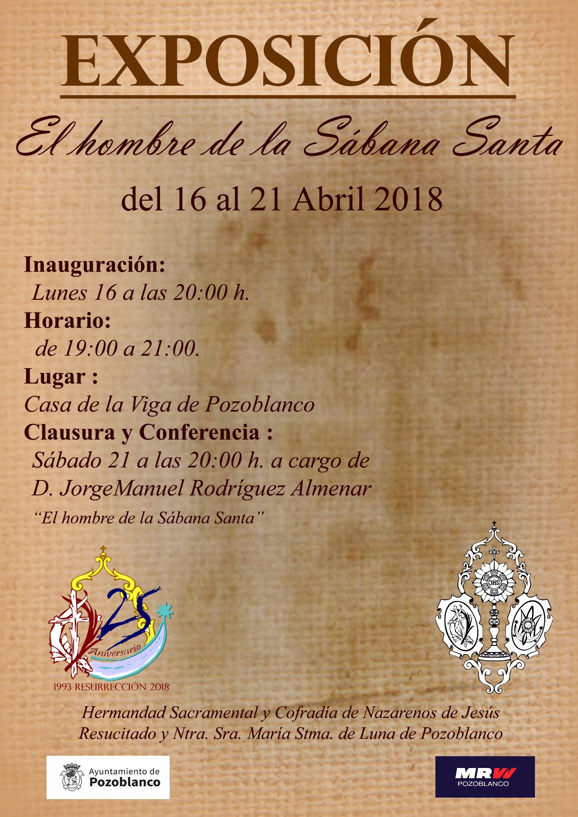 El hombre de la Sábana Santa - Exposición - Pozoblanco