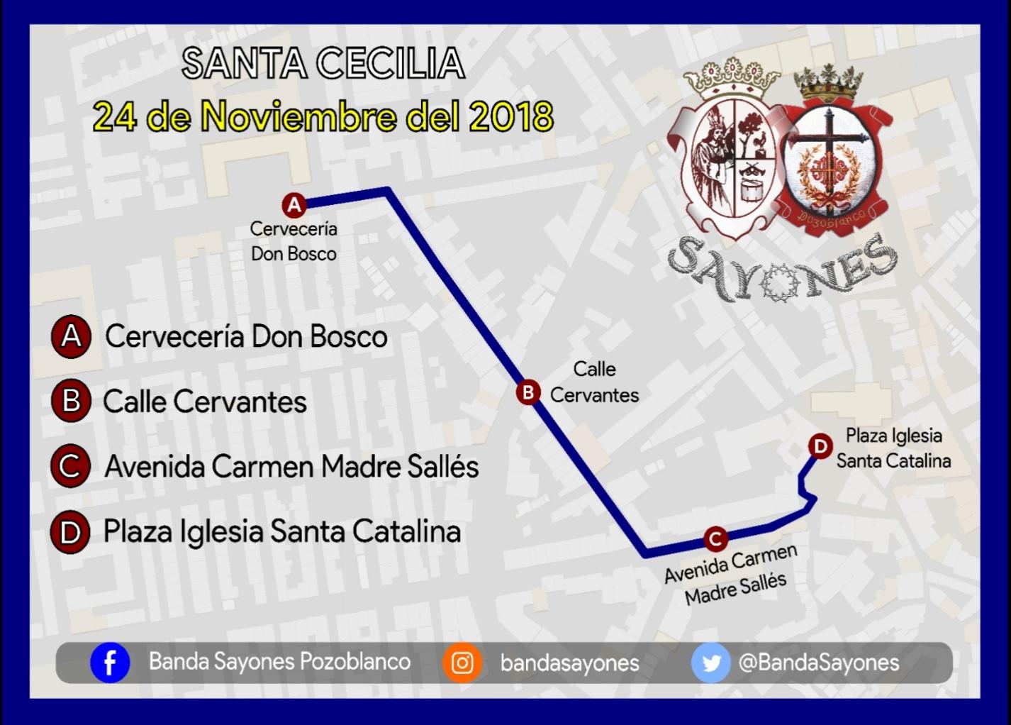 Itinerario Santa Cecilia Sayones