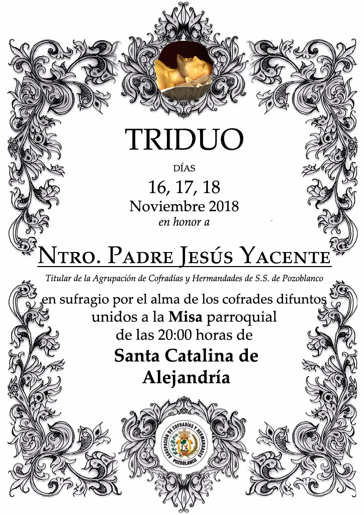 Triduo Ntro. Padre Jesús Yacente