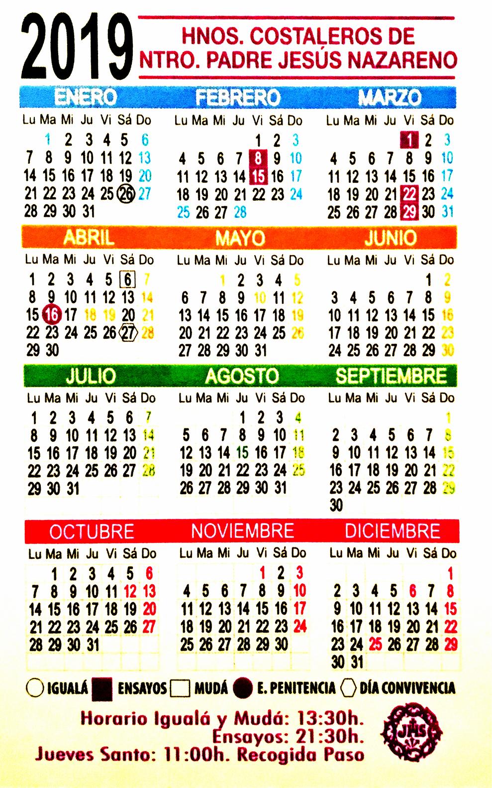 Igualá y ensayos cuadrilla Nazareno 2019