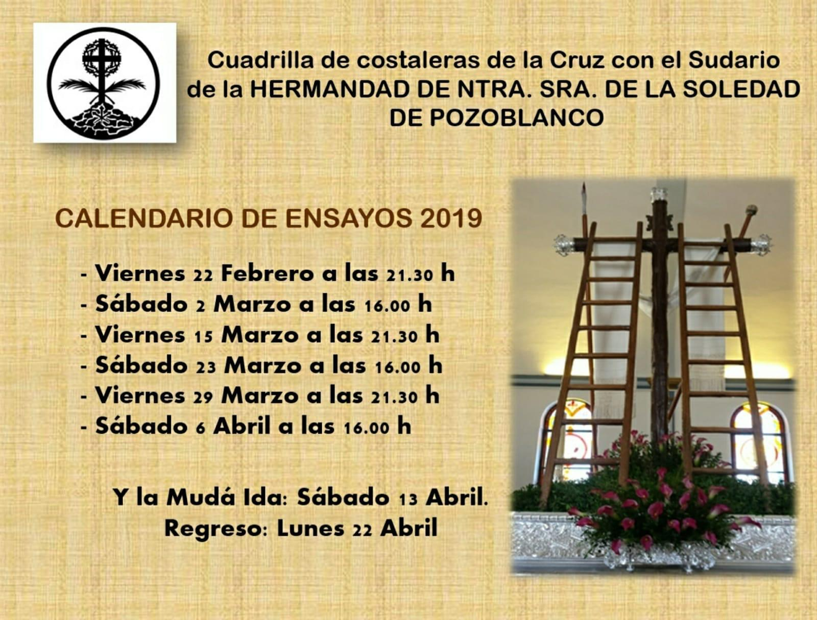 Cuadrilla costaleras Sudario Hdad Soledad Pozoblanco