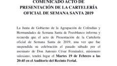 Nota de prensa Presentación Cartelería 2019