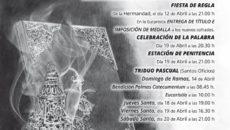 Actos y Cultos en honor a Ntra Sra de la Soledad de Pozoblanco 2019
